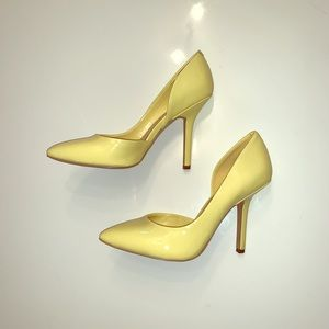 BCBG pale yellow pumps size 6.5 gently used